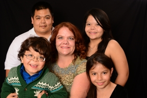 Celeste Bobryk-Ozaki, President, and her family