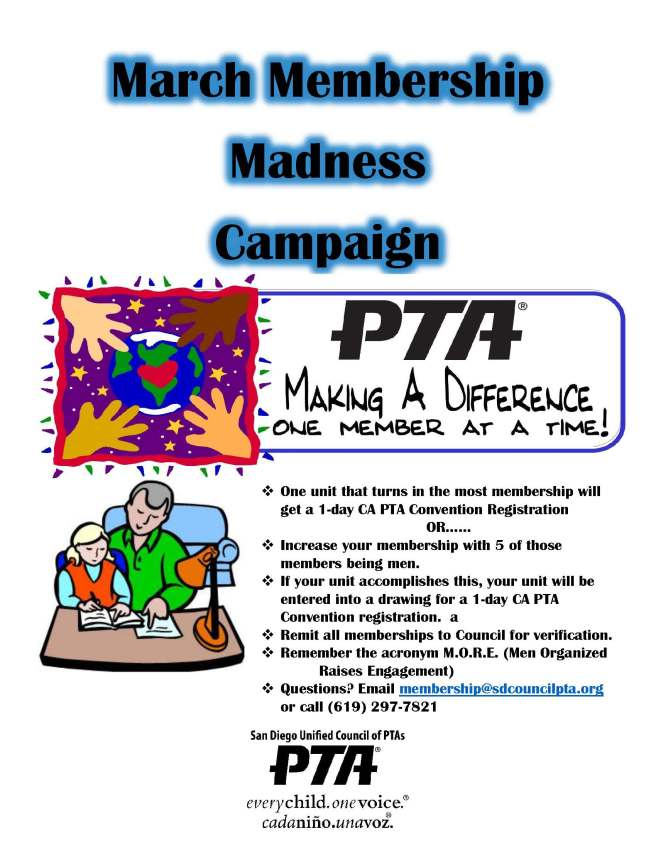 March Membership Madness Flyer 2016