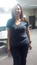 Principal Silvia Martinez showing off her PTA spirit