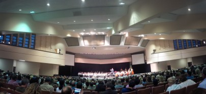 Elementary students from across district performing in the Honors Choir, Orchestra, and Band Concert