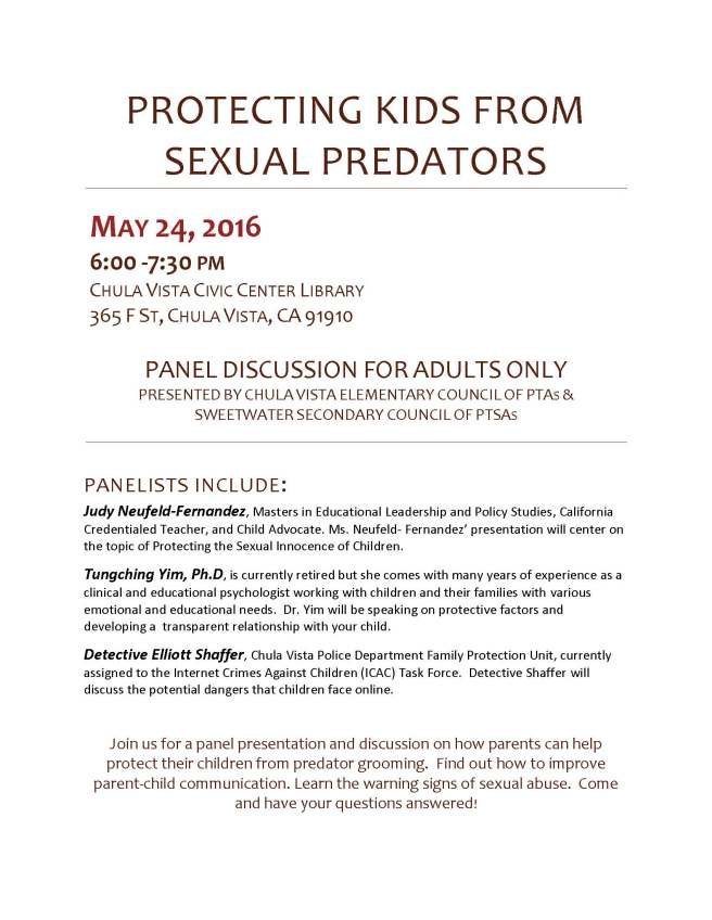 PTA Sexual Predator Forum flyer (1)